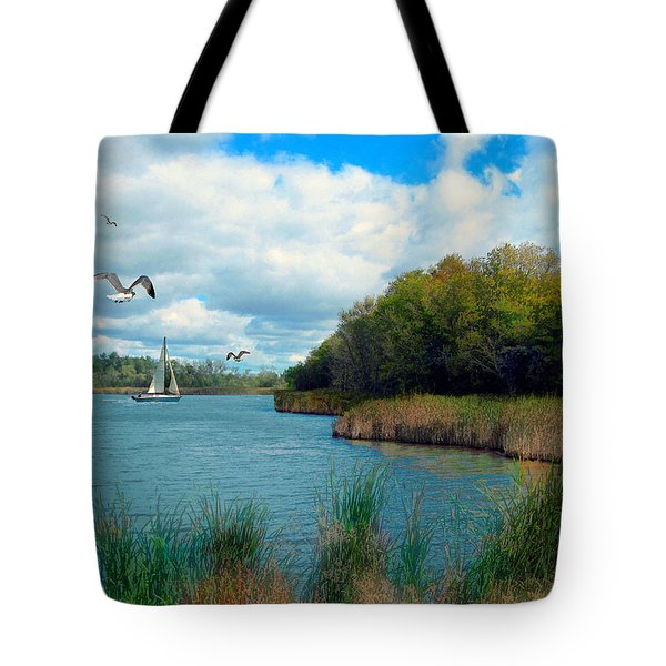 Sails In The Distance Tote Bag