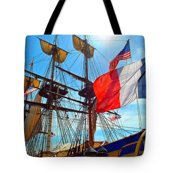 Sails Of France Tote Bag