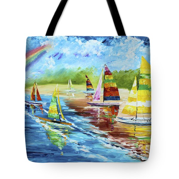 Sails On The Beach Tote Bag