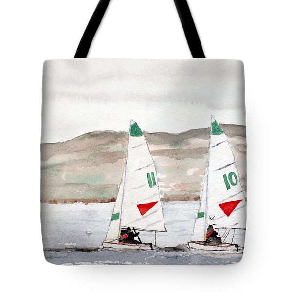Sails On Thunder Bay Tote Bag