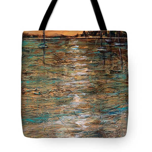 Tote Bag featuring the painting Sails Stowed by Linda Olsen
