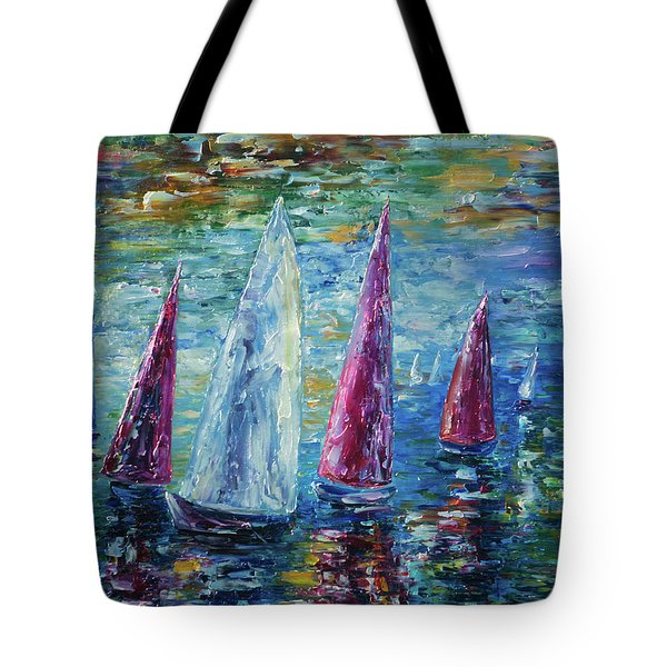 Sails To-night Tote Bag