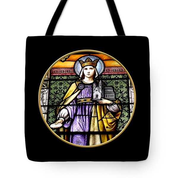 Saint Adelaide Stained Glass Window In The Round Tote Bag