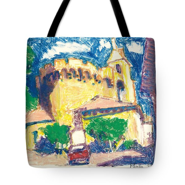 Tote Bag featuring the painting Saint Andiol Provence by Martin Stankewitz