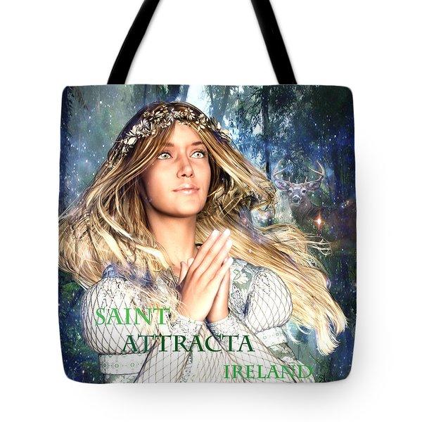 Saint Attracta Irish Light Tote Bag by Suzanne Silvir
