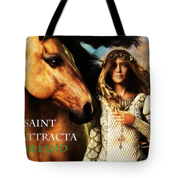 Saint Attracta Tote Bag by Suzanne Silvir