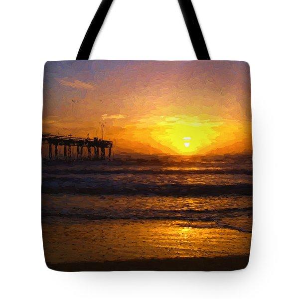 Saint Augustine Beach Sunrise Tote Bag
