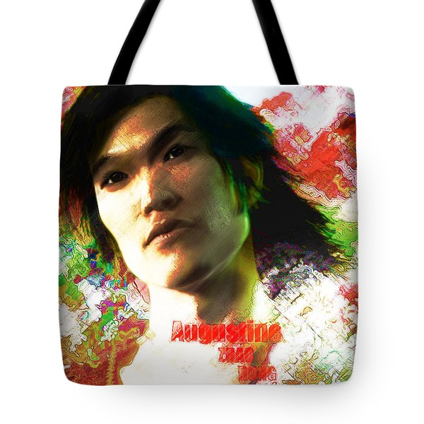 Tote Bag featuring the digital art Saint Augustine Of China by Suzanne Silvir
