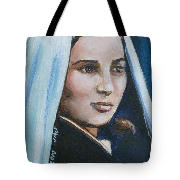 Saint Bernadette Soubirous Tote Bag by Bryan Bustard