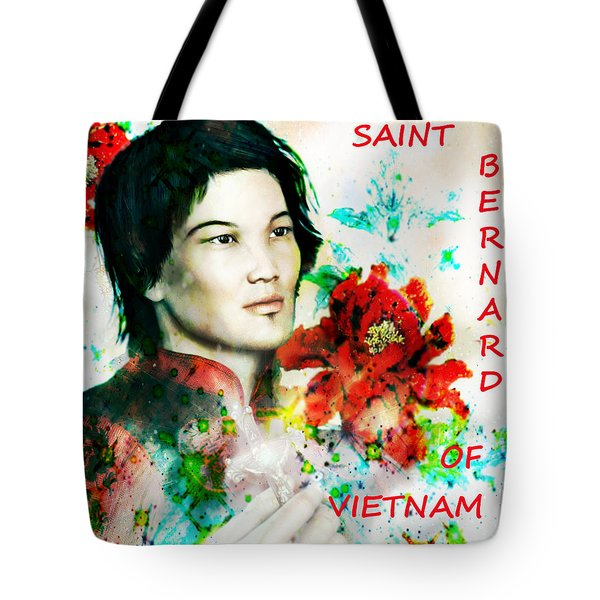 Tote Bag featuring the painting Saint Bernard Due Of Vietnam Poster by Suzanne Silvir