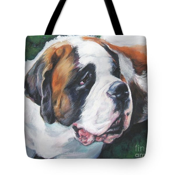 Saint Bernard Tote Bag by Lee Ann Shepard