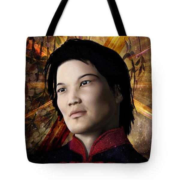 Tote Bag featuring the painting Saint Bernard Vo Van Due by Suzanne Silvir