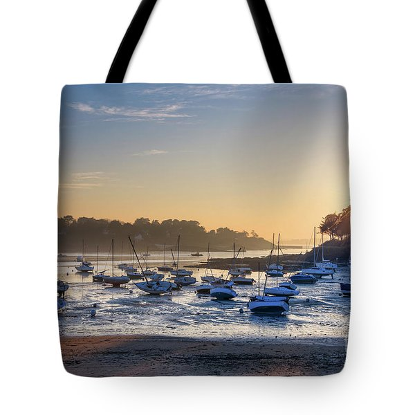 Tote Bag featuring the photograph Saint Briac by Delphimages Photo Creations