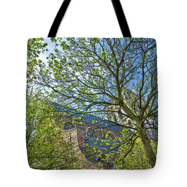 Tote Bag featuring the photograph Saint Catharine's Church In Brielle by Frans Blok