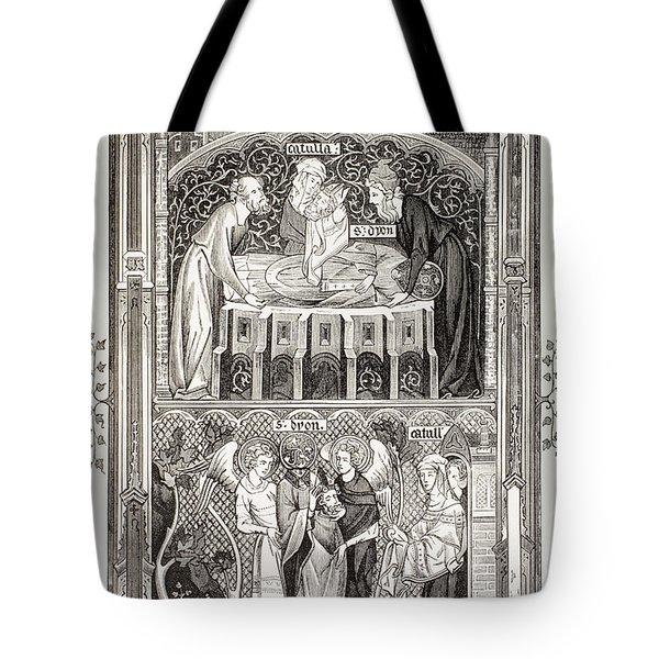 Saint Denis  Also Called Dionysius Tote Bag