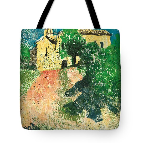 Tote Bag featuring the painting Saint Donat Provence by Martin Stankewitz