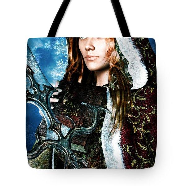 Saint Dymphna 5 Tote Bag by Suzanne Silvir