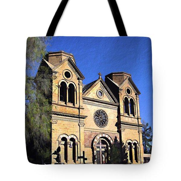 Saint Francis Cathedral Santa Fe Tote Bag by Kurt Van Wagner