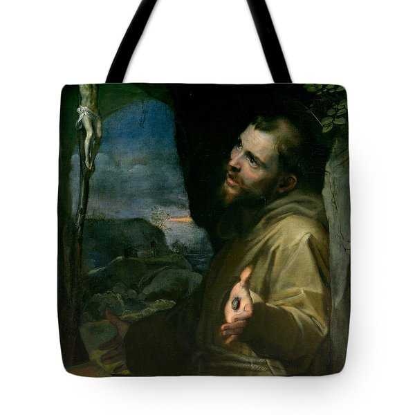 Tote Bag featuring the painting Saint Francis by Federico Barocci