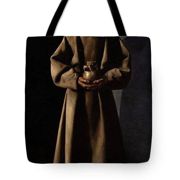 Saint Francis Of Assisi In His Tomb Tote Bag