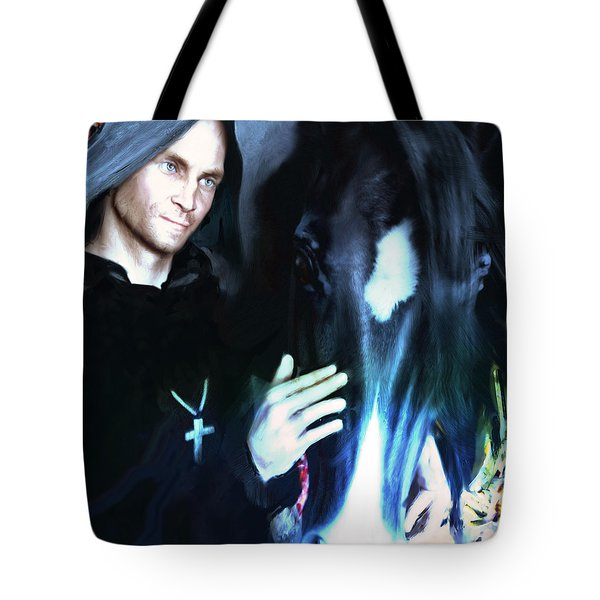 Tote Bag featuring the painting Saint Francis Of Assisi by Suzanne Silvir