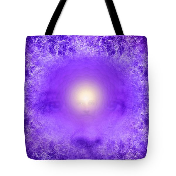 Saint Germain And The Violet Flame Tote Bag