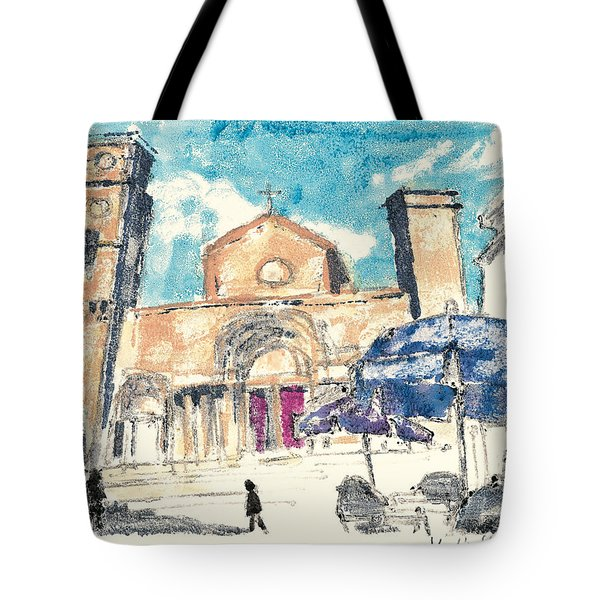 Tote Bag featuring the painting Saint Gilles Abbey by Martin Stankewitz