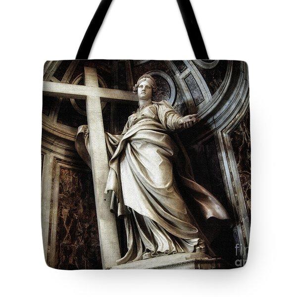 Saint Helena Statue Inside Saint Peter S Basilica Rome Italy Tote Bag