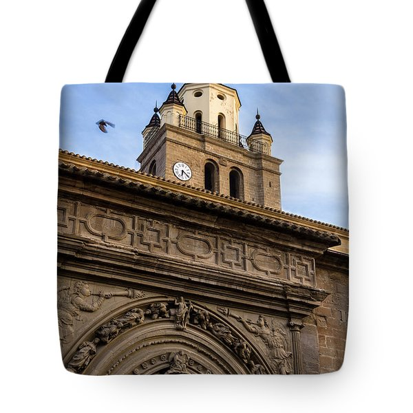 Tote Bag featuring the photograph Saint Hieronymus Facade Of Calahorra Cathedral by RicardMN Photography
