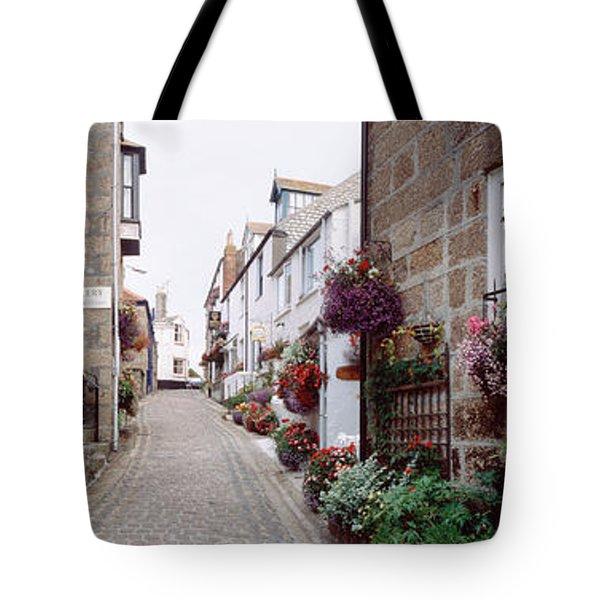 Saint Ives Street Scene, Cornwall Tote Bag