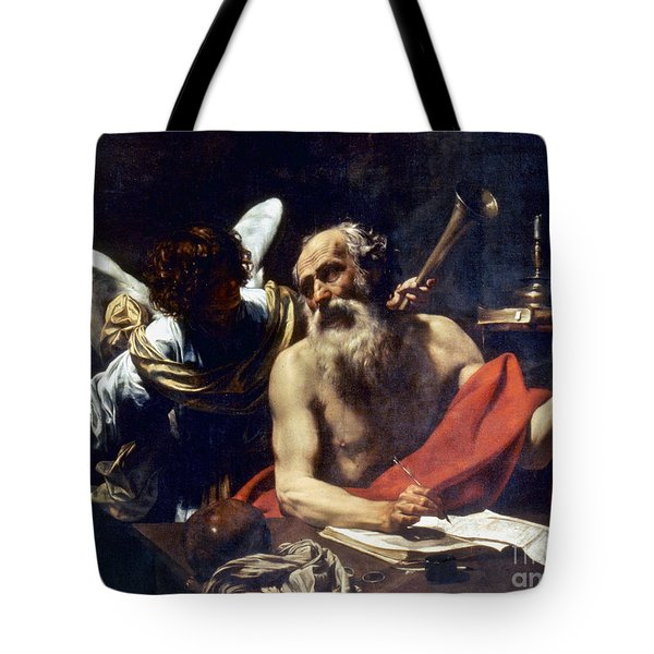 Saint Jerome & The Angel Tote Bag by Granger