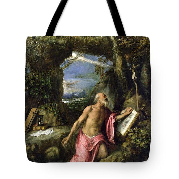 Saint Jerome Tote Bag by Titian