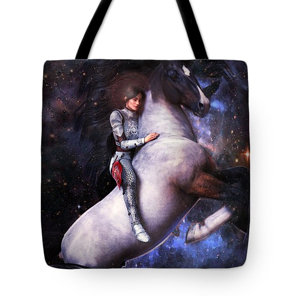 Tote Bag featuring the painting Saint Joan Of Arc by Suzanne Silvir