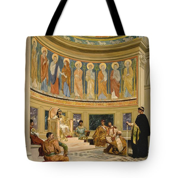 Saint John Chrysostom Exiled By The Empress Eudoxia Tote Bag