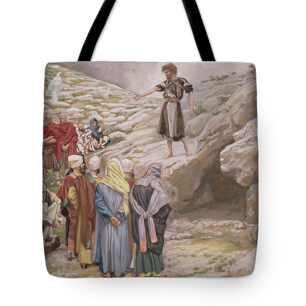 Saint John The Baptist And The Pharisees Tote Bag
