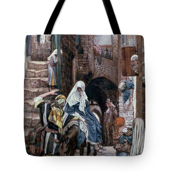 Saint Joseph Seeks Lodging In Bethlehem Tote Bag