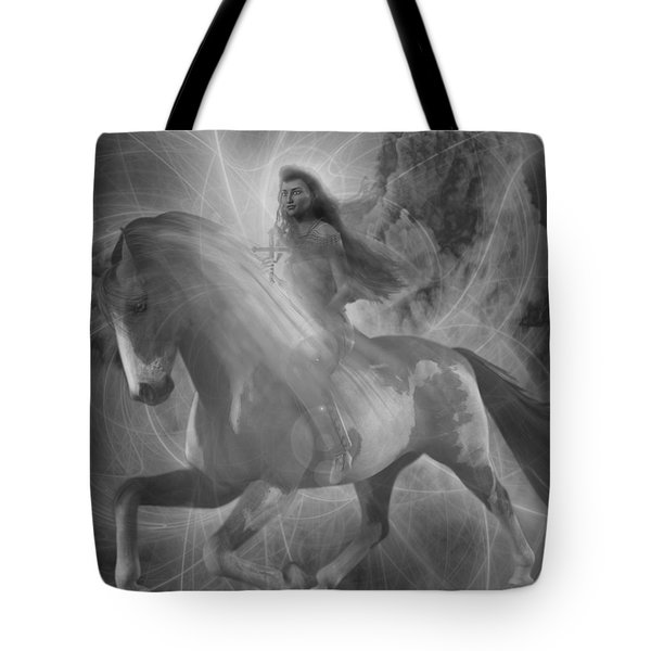 Tote Bag featuring the painting Saint Kateri 5 by Suzanne Silvir