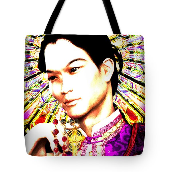Tote Bag featuring the painting Saint Lorenzo Ruiz by Suzanne Silvir