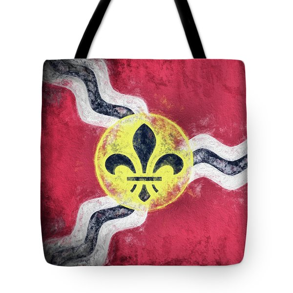 Tote Bag featuring the digital art Saint Louis City Flag by JC Findley