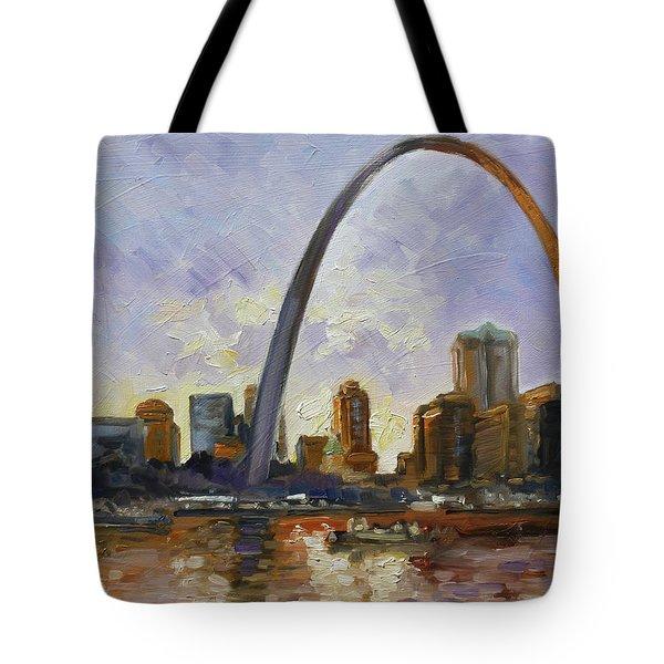 Saint Louis Skyline 3 Tote Bag