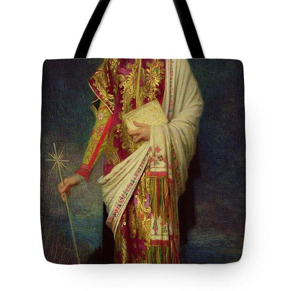 Saint Margaret Slaying The Dragon Tote Bag by Antoine Auguste Ernest Herbert