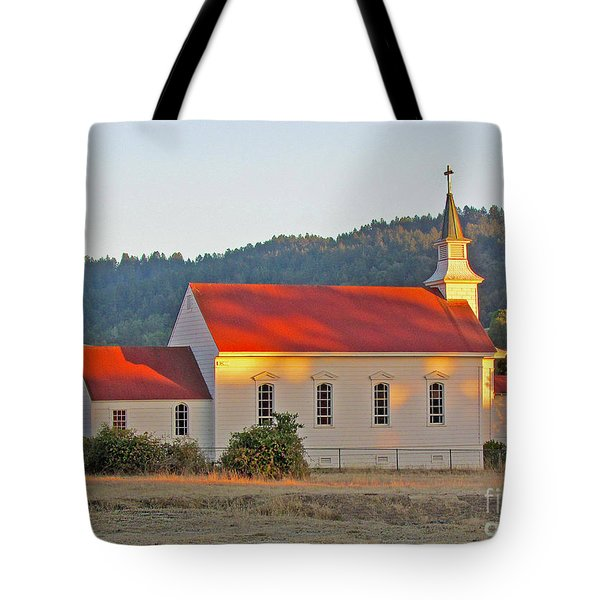 St. Mary's Church At Sunset Tote Bag