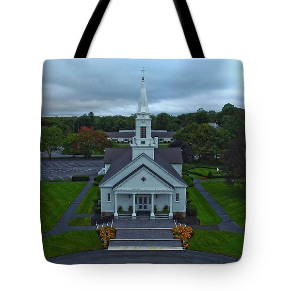 Saint Mary's Church From Above Tote Bag