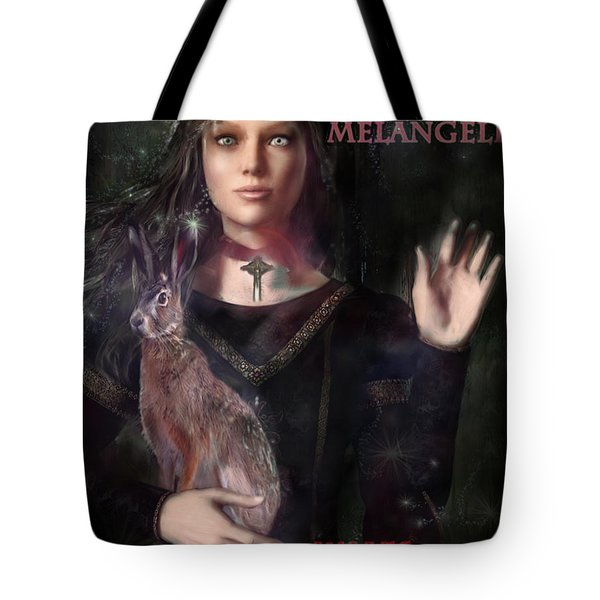 Saint Melangell Of Wales Tote Bag by Suzanne Silvir