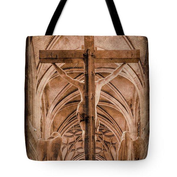 Paris, France - Saint Merri's Cross II Tote Bag