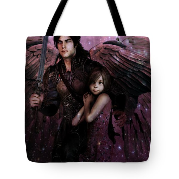 Tote Bag featuring the painting Saint Michael The Protector by Suzanne Silvir