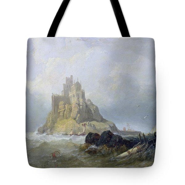 Saint Michael's Mount In Cornwall  Tote Bag by William Clarkson Stanfield