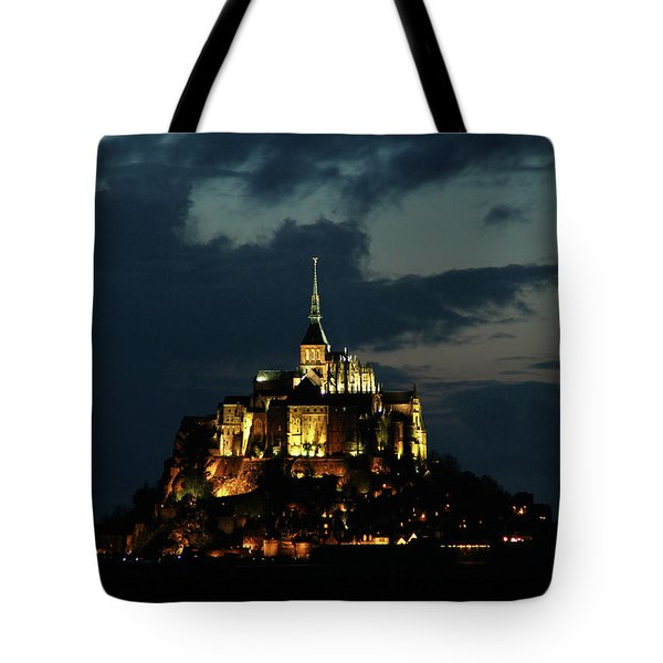 Saint Michel Mount After The Sunset, France Tote Bag by Yoel Koskas