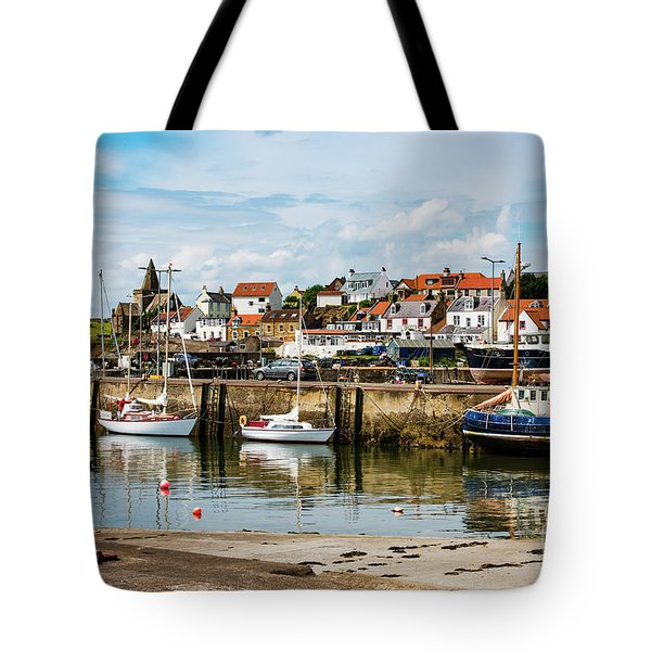 Saint Monans Harbour Tote Bag