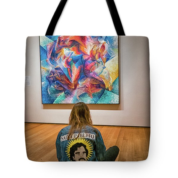 Saint Pablito At Moma Tote Bag